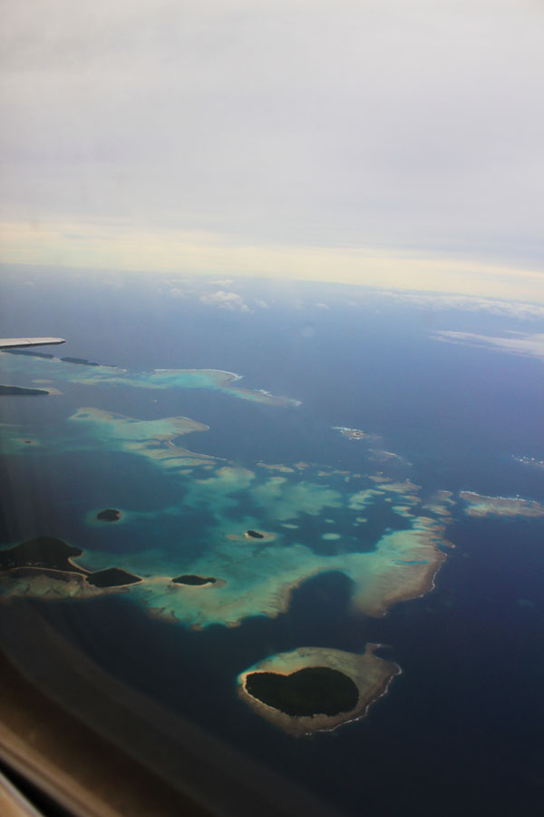 View from the plane flying from Tongatapu to Vava'u.