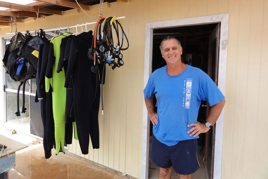 A diving instructor on Vava'u, Tonga.
