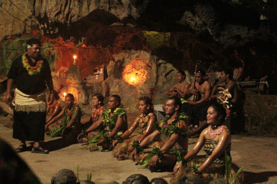 A traditional performance on Vava'u, Tonga.