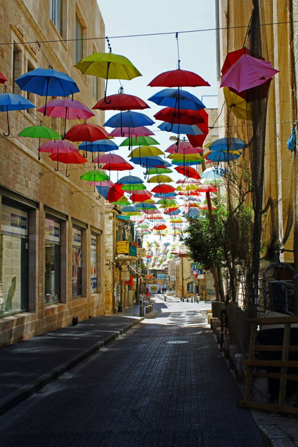 Umbrella Street in Jerusalem