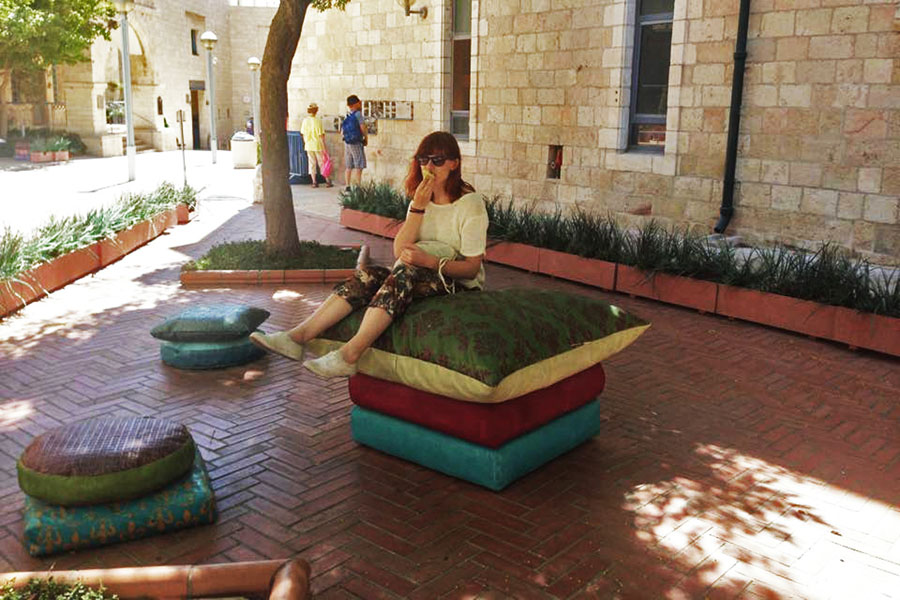 Stone pillows in Jerusalem