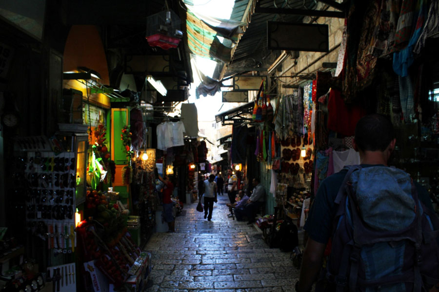 Arabic Market in Jerusalem's Old City