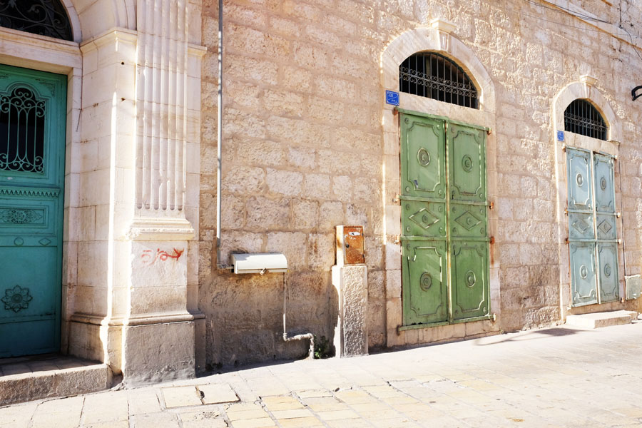 Colorful Doors in Bethlehem's Star Street