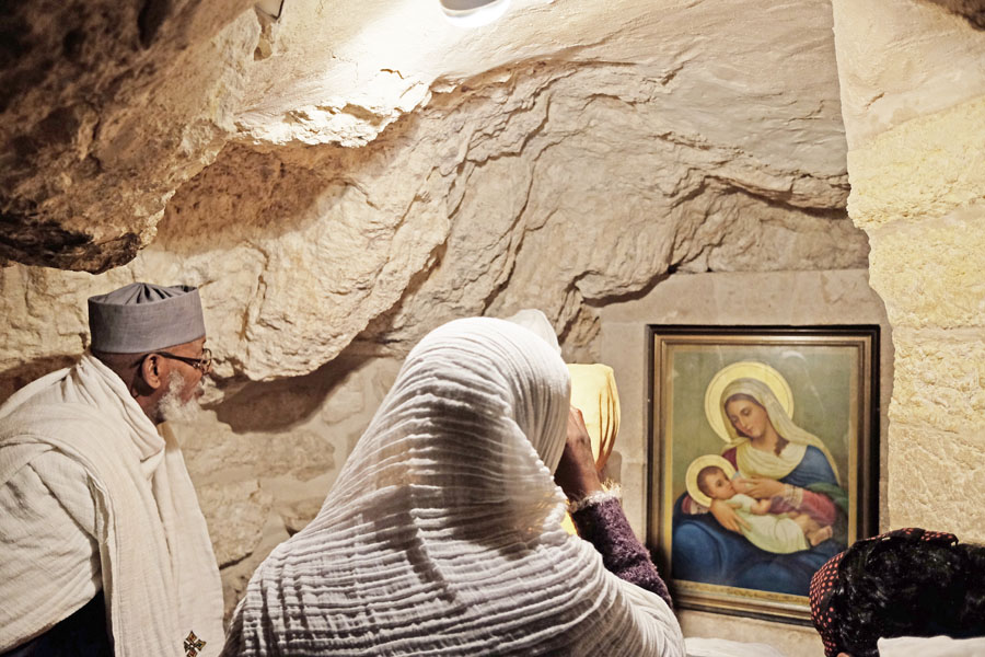 Inside the Milk Grotto in Bethlehem