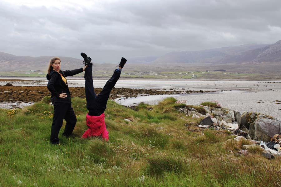 Fooling around on Achill Island.