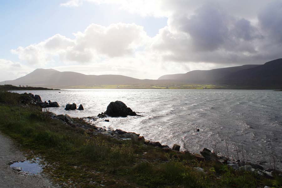 The shore of Achill Island.