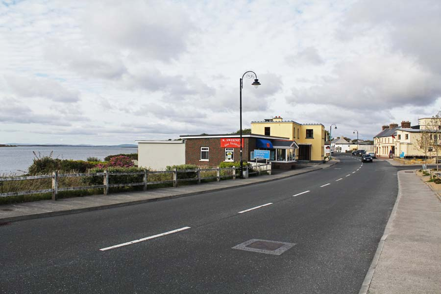 The town at the entrance of Achill Island.