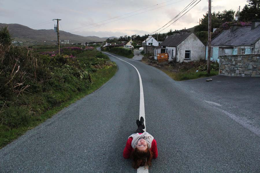 Chilling on the roads of Achill Island.