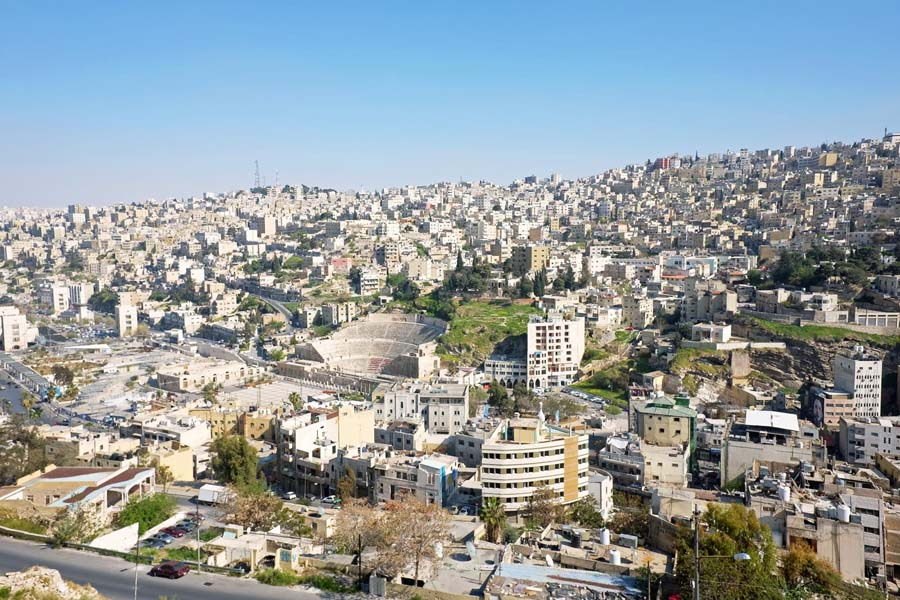 View from the citadel of Amman, Jordan