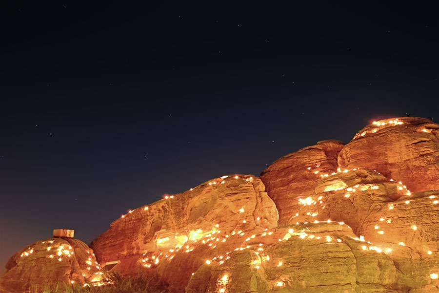 Night sky in Petra, Jordan