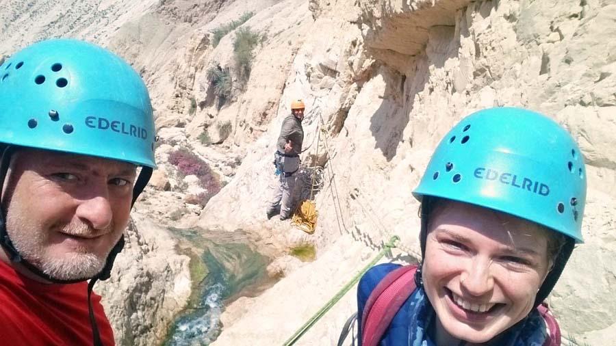 Canyoning in Wadi Zarqa