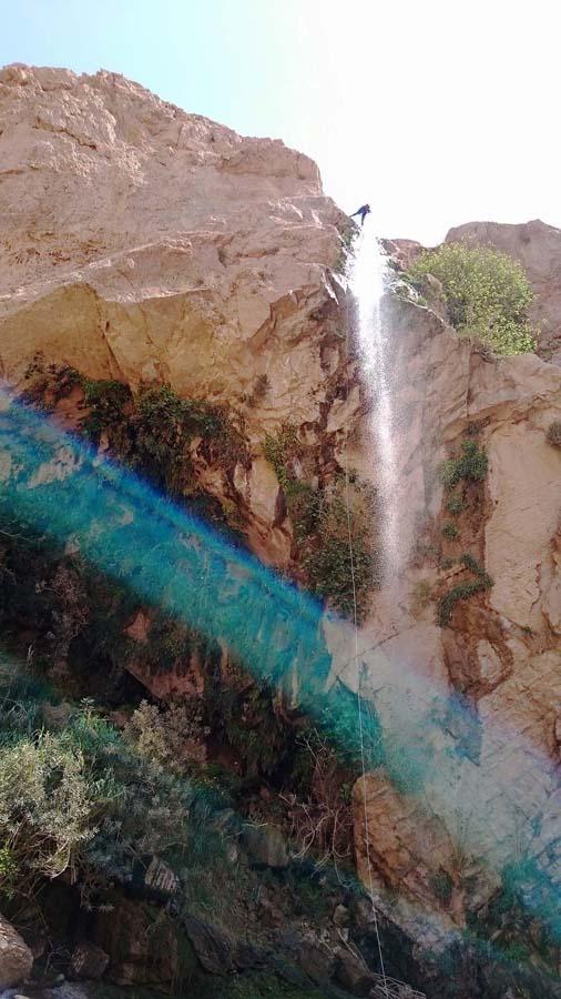 Rappelling in Wadi Zarqa, Jordan