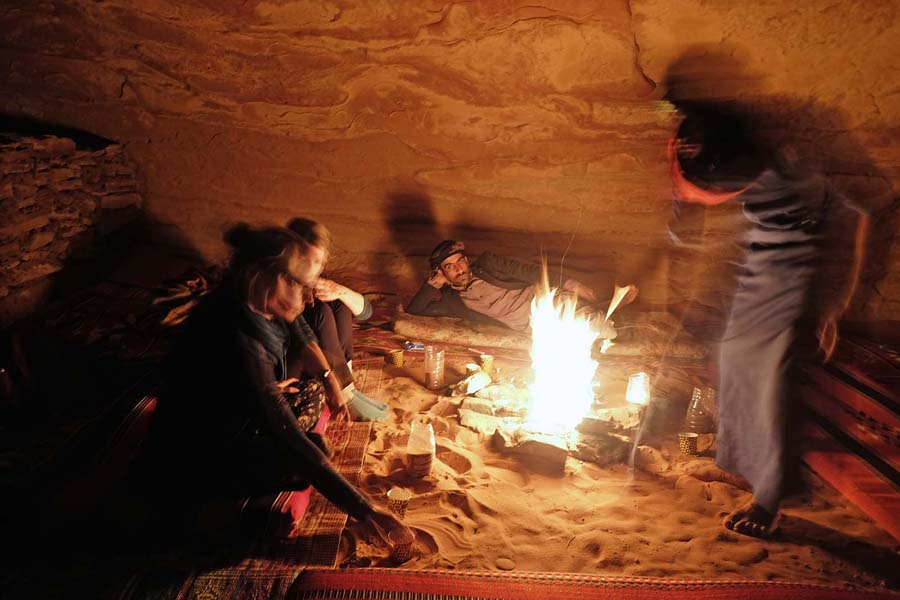Campfire with Bedouins in Wadi Rum