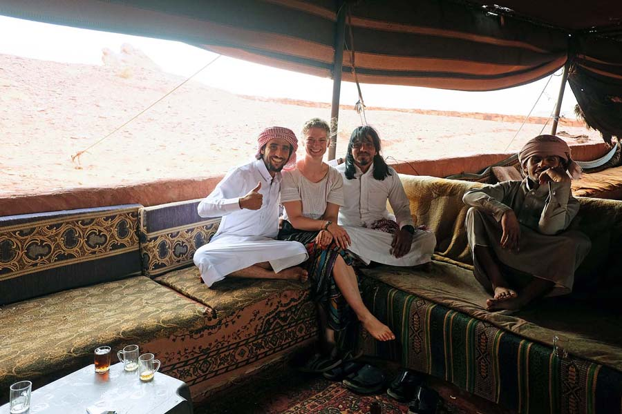 Making friends with Bedouins in Wadi Rum