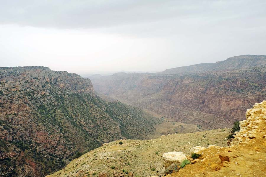 View over the valley of Dana Biosphere Reserve