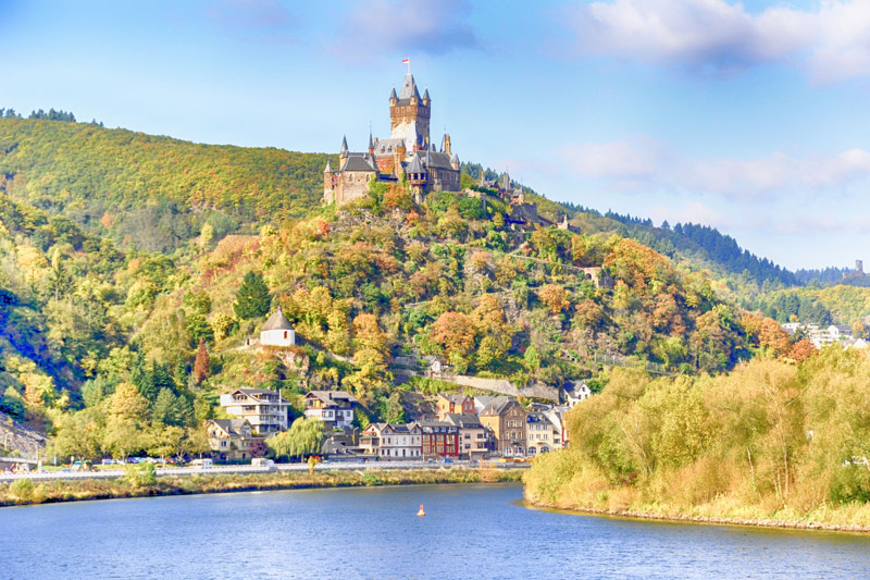 The cute Castle of Cochem