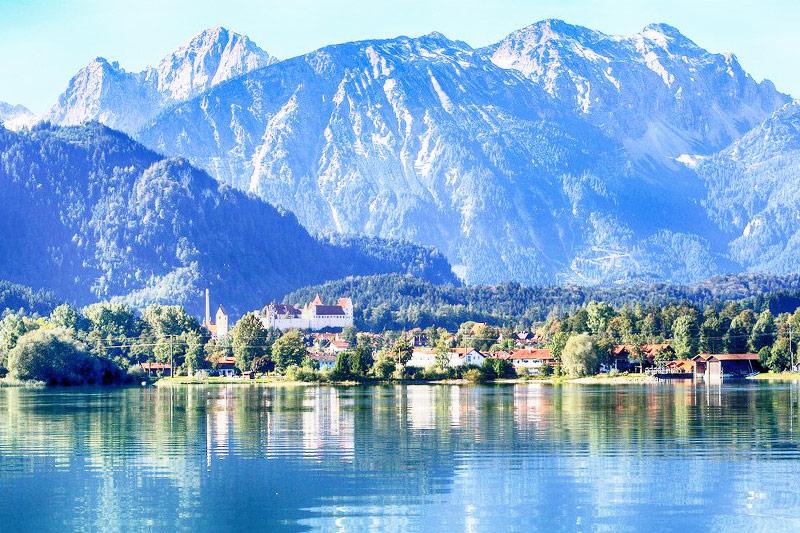 The cute town of Füssen