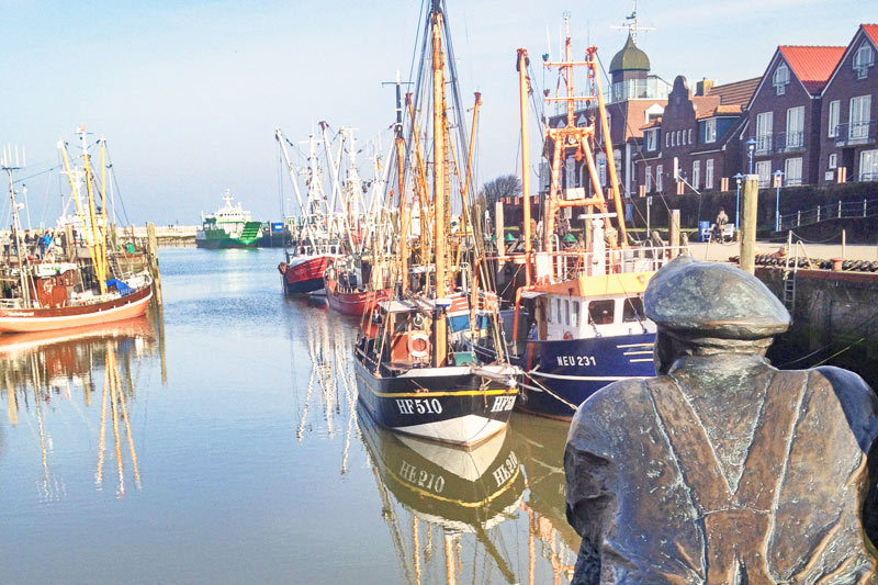 The cute harbor of Neuharlingersiel