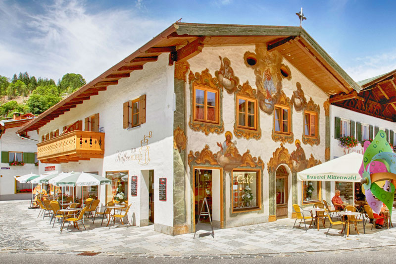 The cute town of Mittenwald