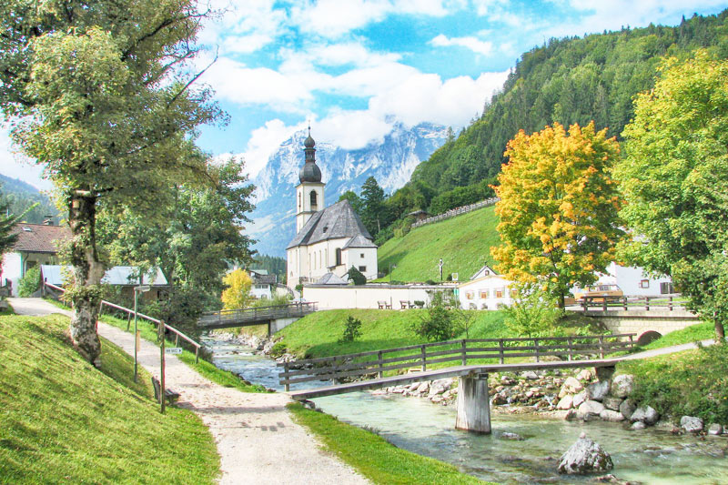 The cute town of Ramsau