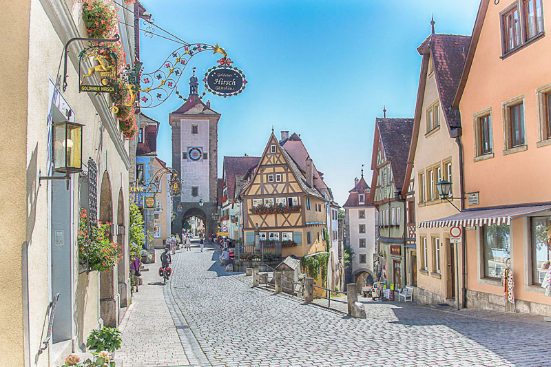 The old city of Rothenburg