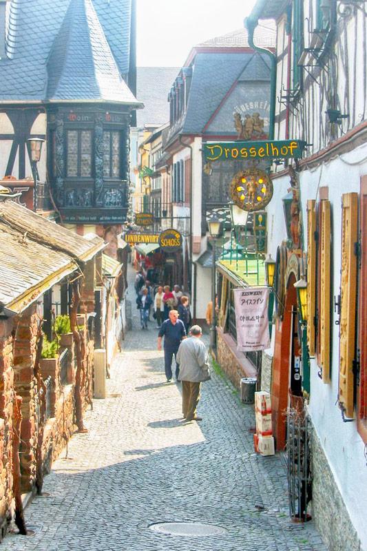 The old city of Rüdesheim