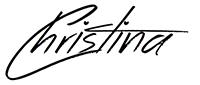 Christina autograph