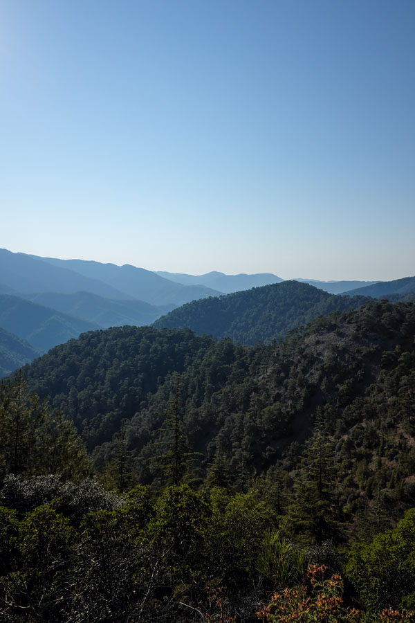 View over the mountains of Cyprus.