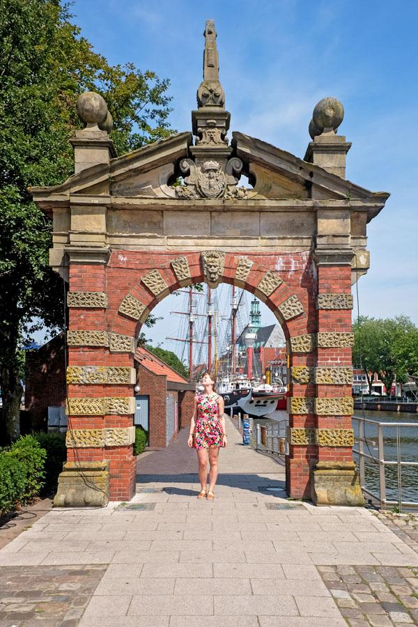 Enjoying sunshine in Emden, Germany.