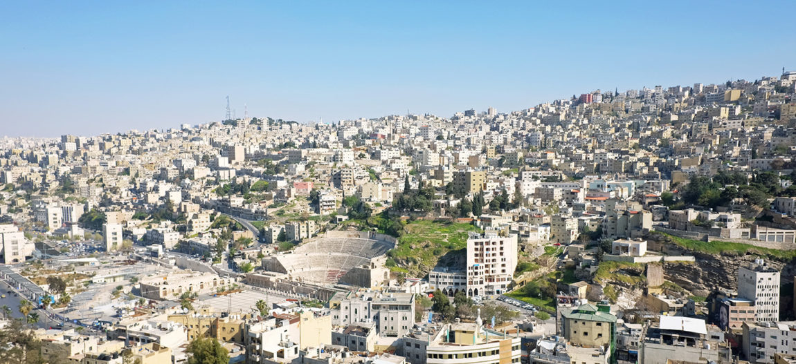 View from Amman's citadel over downtown and the Roman theatre.