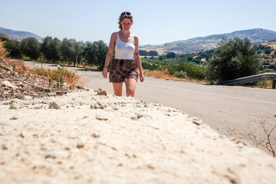 Walking the remote streets of Cyprus.
