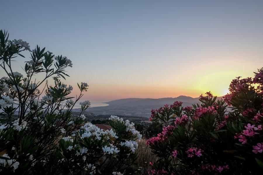 A stunning sunrise in Cyprus.