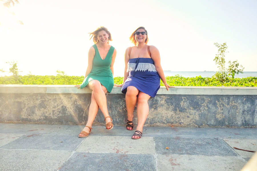 Esther and I enjoying Dili, Timor-Leste