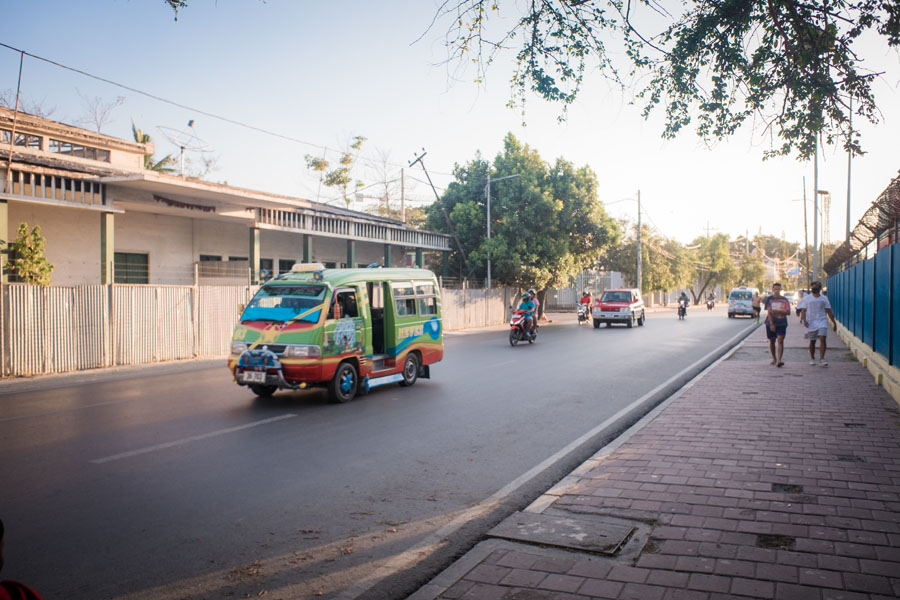 Traffic in Dili, Timor-Leste