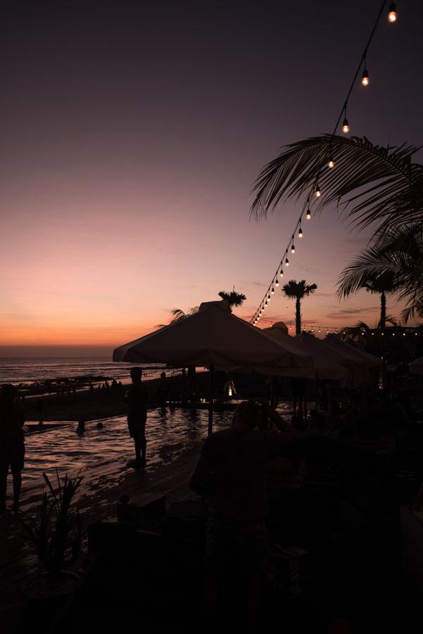 sunset in Canggu